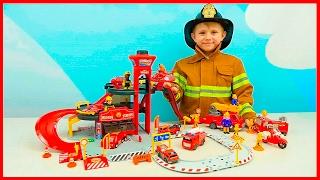 Пожарные Машинки и Пожарная станция для детей | Видео про Машинки и мальчика Пожарного Даника