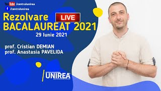 REZOLVARE LIVE – BACALAUREAT 2021 – MATEMATICA
