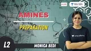Preparation | Amines-2 | Class 12 Chemistry | Unacademy Class 11&12 | Monica Bedi - MONICA