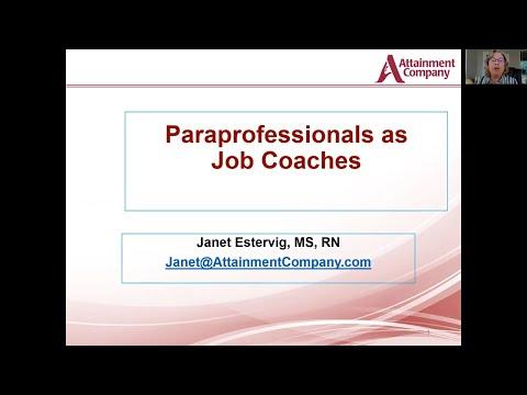 Paraprofessionals as Job Coaches Webinar April 2020 - YouTube