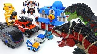 Go Go Tobot Athlon, Rescue Center Is Under Attack By Dinosaurs~!