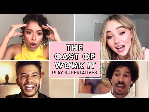 Liza Koshy, Sabrina Carpenter, and the Cast of WORK IT Play Superlatives   Seventeen