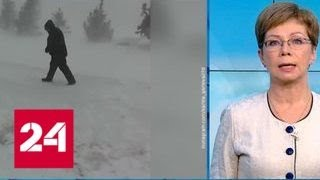 """""""Погода 24"""": из-за ураганного ветра в Астане введен режим ЧС - Россия 24"""