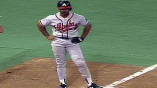 1991 WS Gm7: Smith makes mistake on basepaths