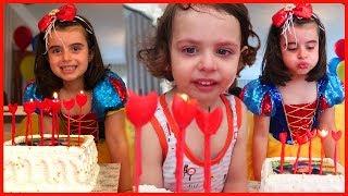 Pamuk Prenses Rüya'nın 5 Yaş Doğum Gününü Kutladık, Pasta Üflkedik, Hediyeleri Açtık