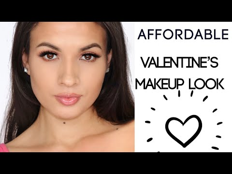 AFFORDABLE PINK ROMANTIC VALENTINES DAY MAKEUP TUTORIAL Adrilunamakeup