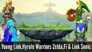 Breath of the Wild Link + Zelda, Medli, Outset Toon Link - Super