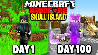 I Survived 100 Days on Skull Island in Minecraft.. Here's What Happened..