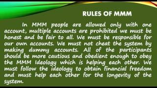 Video MMM IDEOLOGY, HOW IT WORKS, RULES AND BENEFITS By NORIEFE R. TAHAMIN