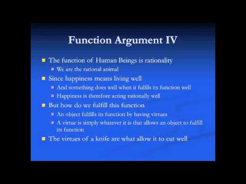 the human function argument The upshot of this is that human function arguments probably have the two following desiderata: the function should be unique to humans, if not a completely unique property or feature, then something to a unique extent.