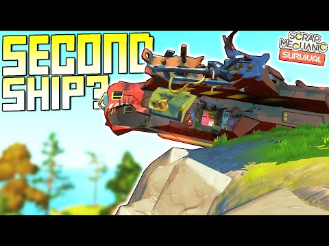 Finding the Second Ship! Plus Another Mysterious Island?  - Scrap Mechanic Survival Mode [SMS 45]