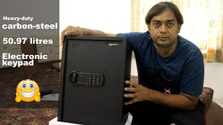 Lockers | AmazonBasics Home Safe - 1.80 Cubic Feet(50.97 litres) |  Programmable electronic keypad