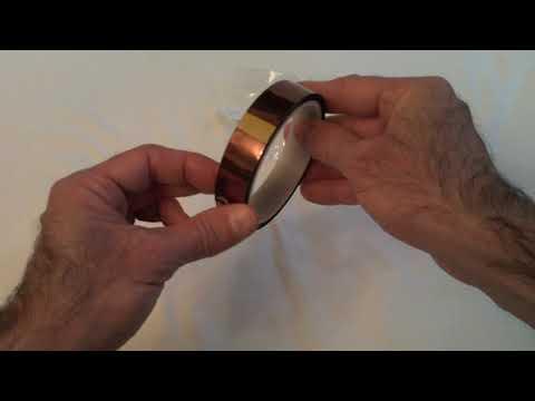 20mm x 100ft Kapton Nastro Resistente ad Alta Temperatura di Oro Poliimmide