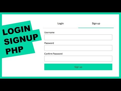 Crash Course: Create login and signup flow with MySQL