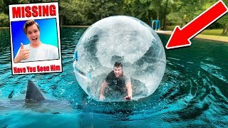 CATCHING THE POND MONSTER IN A GIANT BUBBLE!! Logan Is Missing