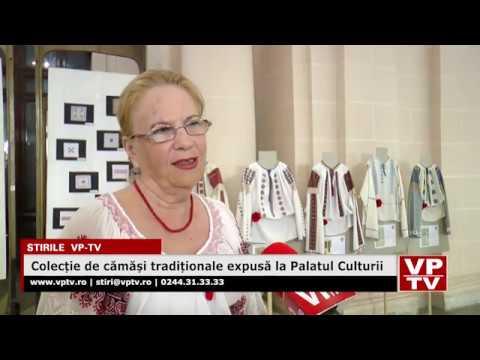 Colecție de cămăși tradiționale expusă la Palatul Culturii