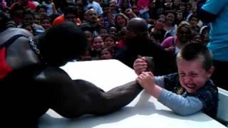 """2 real men (Tyler vs. BIG""""D"""") arm wrestling for a"""
