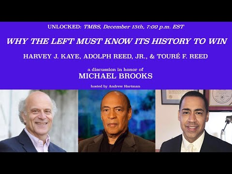 PANEL 2 THE MICHAEL BROOKS TRIBUTE SERIES Harvey Kaye, Adolph Reed & Jr., Touré Reed