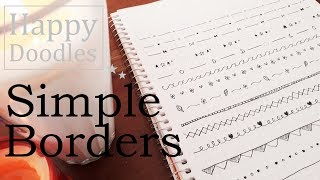Doodles Simple Borders | Doodle With Me | Easy Decorative Lines