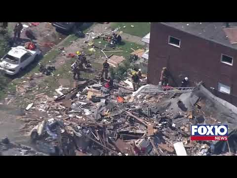 Explosion destroys homes in Baltimore