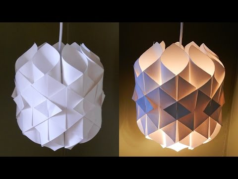 DIY paper lamp/lantern (Cathedral light) – how to make a pendant light out of paper – EzyCraft