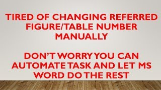 Auto Numbering Figure   Numbering of Table   Numbering of Caption in MS Word
