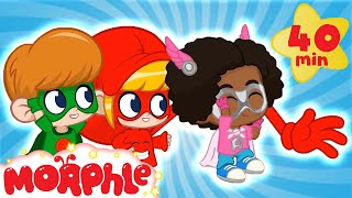 The Masked SUPER HEROS! My Magic Pet Morphle   Cartoons For Kids   Morphle   Mila and Morphle