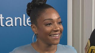 Tiffany Haddish Hilariously Asks Oprah Winfrey to Approve Her 2018 Oscars Gown