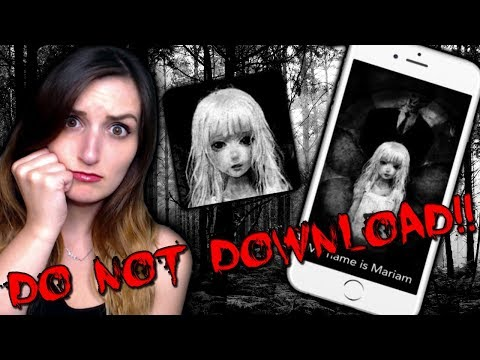 DO NOT DOWNLOAD THIS APP...IT'S HAUNTED!! - Mariam App