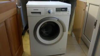 All the possible ways to open the washing machine door on a Siemens iQ500