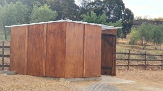 the ostrich barn is almost complete | there future home part 3