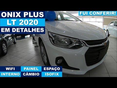 Chevrolet Onix Plus LT Turbo 2020 - Em detalhes! Fui conferir!