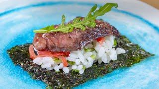 Шикарная закуска из говядины, как в Японии, просто, стильно, вкусно, за уши не оттащить