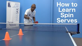 How To Learn Spin Serves in Table Tennis