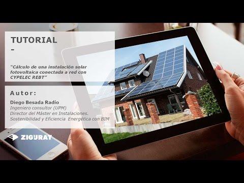 Tutorial. Cálculo de una instalación solar fotovoltaica conectada a red con CYPE