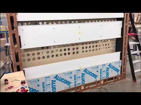TV Wandintegration  Flatscreen verbaut in Zwischenwand