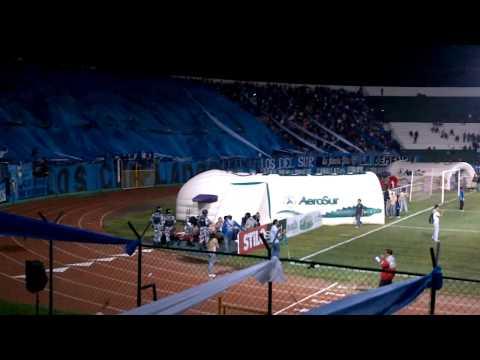 """""""Recibimiento BLOOMING vs oriente ( Platea Celeste )"""" Barra: Los Chiflados • Club: Blooming"""