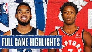 TIMBERWOLVES at RAPTORS   FULL GAME HIGHLIGHTS   February 10, 2020  The Toronto Raptors extend their franchise-record winning streak to 15 games as they defeated the Minnesota Timberwolves, 137-126, in Toronto. Pascal Siakam recorded a game-high 34 PTS for the Raptors, while Kyle Lowry added 27 PTS, 7 REB and 11 AST in the victory. OG Anunoby recorded a career-high 25 PTS. In his Timberwolves debut, D'Angelo Russell tallied 22 PTS and 5 AST.  Catch Tuesday's action on TNT: L.A. Clippers at Philadelphia 76ers, 7:00 pm/et & Boston Celtics at Houston Rockets, 9:30 pm/et  Subscribe to the NBA: https://on.nba.com/2JX5gSN   Full Game Highlights Playlist: https://on.nba.com/2rjGMge  For news, stories, highlights and more, go to our official website at https://nba_webonly.app.link/nbasite  Get NBA LEAGUE PASS: https://nba.app.link/nbaleaguepass5