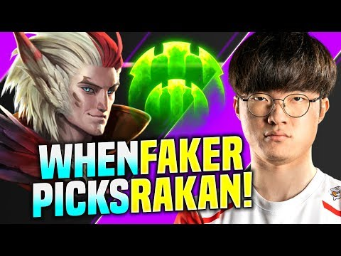 FAKER FROM MID TO SUPPORT! - SKT T1 FAKER Plays Rakan vs Leona Support! | S10 KR SoloQ