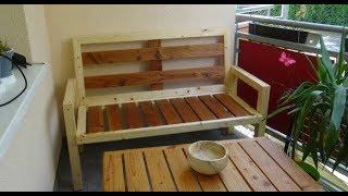 Gartenbank aus Kantholz selber bauen