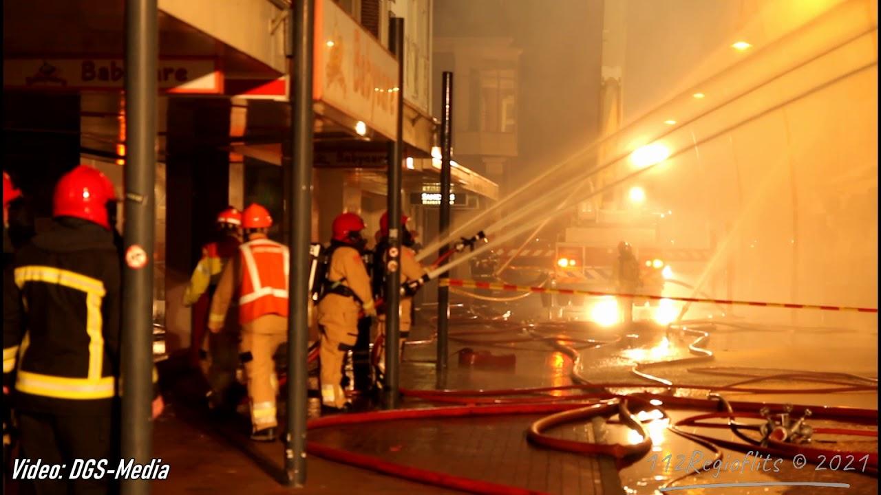 Zeer grote brand in centrum van Veendam 22 02 21