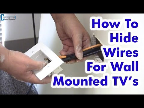 How to Hide Wires for Wall Mounted TV - Easy DIY