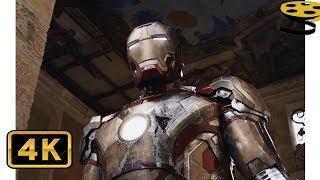 Тони Старк возвращает Свой Костюм(Марк 42). Сцена Бегства | Железный человек 3 | 4K ULTRA HD
