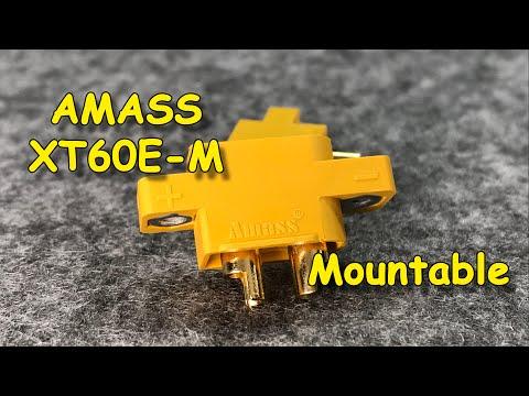 AMASS XT60E-M Mountable | Коннектор XT60E-M для установки на корпус