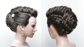 Easy Bridal Hairstyle For Long Hair. Wedding Braided Updo Tutorial.