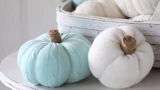 How to Make Sweater Pumpkins from Sleeves
