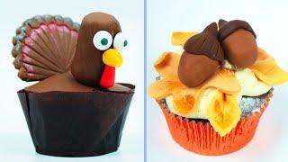 Cupcake Decorating Ideas | BEST DESSERTS for THANKSGIVING | Yummy Desserts Hooplakidz Recipes