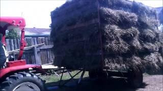 самодельная большая телега для сена