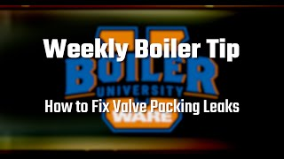 Fixing a Valve Packing Leak - Weekly Boiler Tips