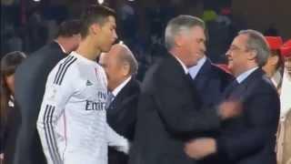 Ronaldo Ignores Michel Platini UEFA President